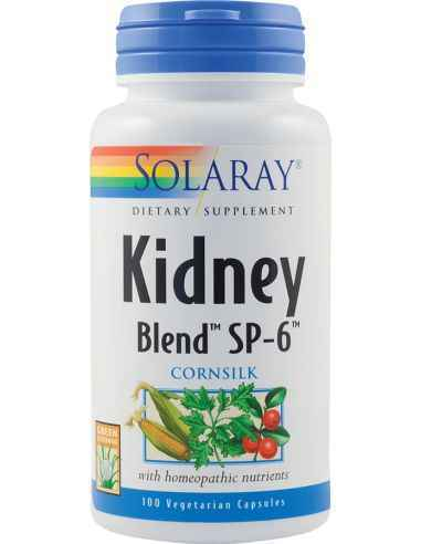 Kidney Blend 100 capsule Solaray, Kidney Blend 100 capsule Solaray Formula complexa fito-homeopata cu rol in protectia aparatulu