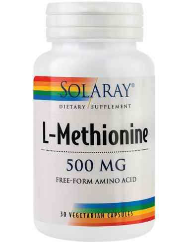 L-Methionine 500mg 30 capsule Solaray Aminoacid esential cu rol in protectia hepatica, urinara si cardiovasculara.
