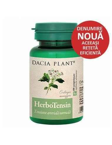 Herbotensin (Reglator al Tensiunii) 60 comprimate Dacia Plant Herbotensin (Reglator al tensiunii) comprimate este un produs na