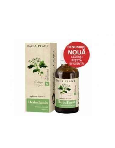 Herbotensin (Reglator al Tensiunii) soluţie hidroalcoolică 50 ml Dacia Plant Herbotensin (Reglator al tensiunii) este un produs