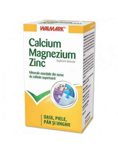 Calcium Magnezium Zinc (Ca Mg ZN) 100  tablete Walmark, Calcium Magnezium Zinc (Ca Mg ZN) 100 tablete Walmark Toate componentel