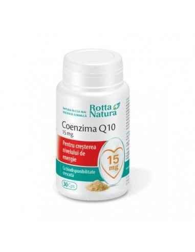 Coenzima Q10 15 mg 30 capsule Rotta Natura, Coenzima Q1015 mg 30 capsule Rotta Natura Coenzima Q10 este esentiala pentru produc