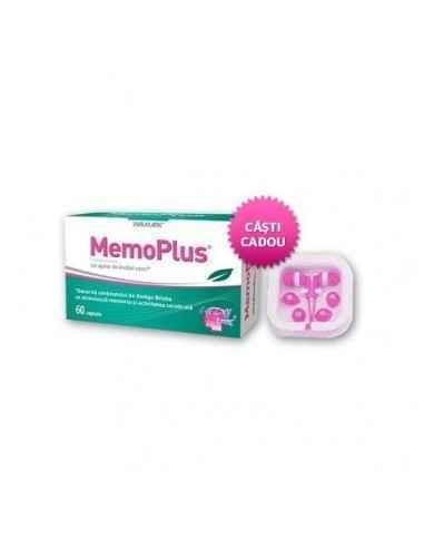 Memoplus 60 capsule Walmark + casti cadou, Memoplus 60 capsule Walmark + casti cadou MemoPlus conţine 4 ingrediente atent select