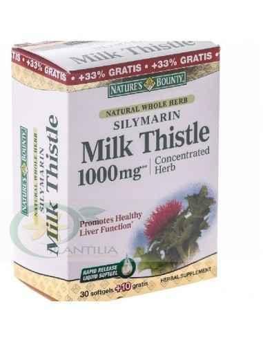 Silymarin Milk Thistle 1000mSilymarin Milk Thistle 1000mg  30 + 10 cadou Nature's Bounty g  60 capsule Nature's Bounty, Silymari