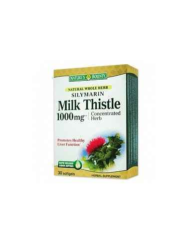 Silymarin Milk Thistle 1000mg  30 capsule Nature's Bounty, Silymarin Milk Thistle 1000mg 30 capsule Nature's Bounty Pentru prot