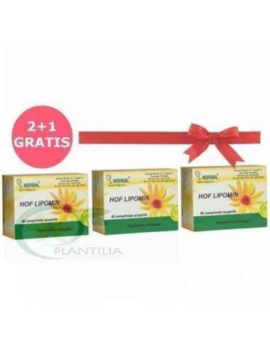 Hof Lipomin 40 cpr 2+1 GRATIS Hofigal, Pachet Hof Lipomin 40 cpr 2+1 GRATIS Hofigal Topinamburul conţine fitocomplexe de substa