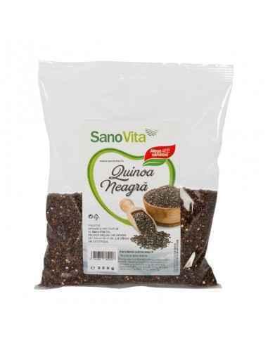 Quinoa Neagra 250 Sano Vita Quinoa neagra este o varietate de quinoa salbatica, care creste in mod natural in culturile de quino