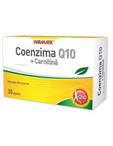 Coenzima Q10 + Carnitina 30 capsule Walmark, Coenzima Q10 + Carnitina 30 capsule Walmark Coenzima Q10 este o substanţă asemănăto