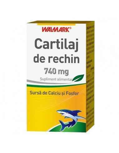 Cartilaj de rechin 740 mg 30 capsule Walmark Cartilajul de rechin este un mucopolizaharid complex care conţine proteine, cum a