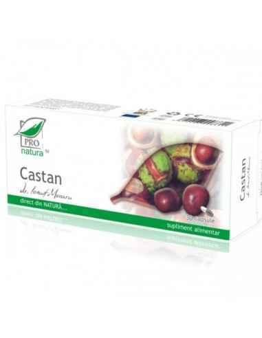 Castan 30 capsule Pro Natura, Castan 30 capsule Pro Natura Produsul Castan este de ajutor in cazul afectiunilor musculare si ven