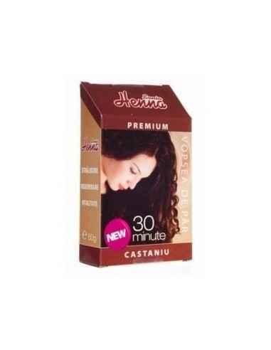 Vopsea par Henna Premium Castaniu 60gr Kian Cosmetics, Vopsea par Henna Premium Castaniu Colorant natural pentru par obtinut di