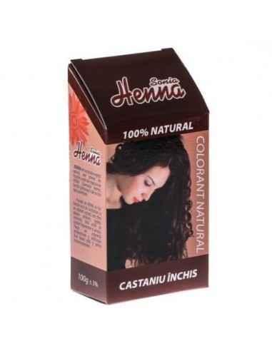 Vopsea de par Henna Sonia Castaniu Inchis Vopsea pentru par 100% naturala cu extract de henna
