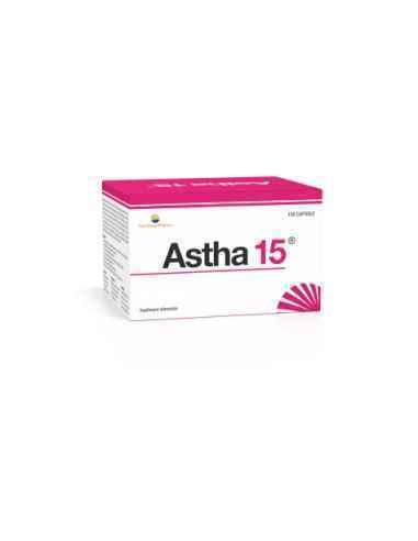 Astha 15 120 capsule Sun Wave Pharma -Contribuie la menţinerea sănătății membranelor mucoase (în special la nivel respirator):