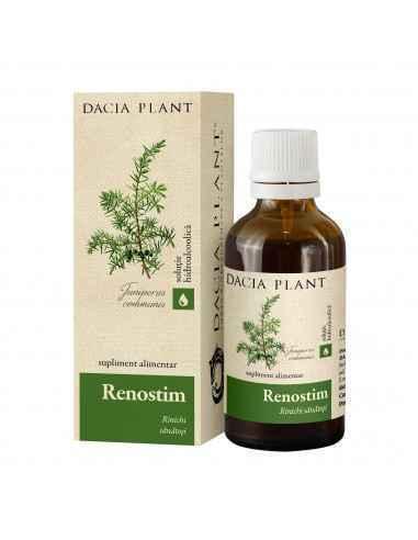 Renostim solutie hidroalcoolica 50 ml Dacia Plant Renostim este un produs natural recomandat pentru menţinerea sănătăţii aparatu