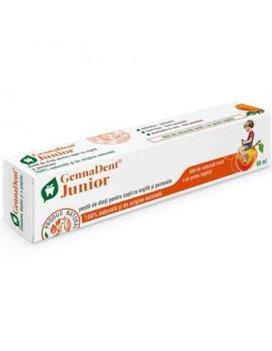 Pasta dinti GennaDent Junior Portocala 80ml Viva Natura, Pasta de dinti GennaDent Junior Portocala Pasta de dinti cu argila si e