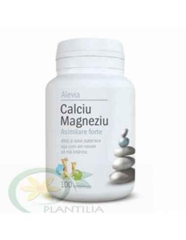 Calciu Magneziu Asimilare forte 100 comprimate Alevia, Calciu Magneziu Asimilare forte 100 comprimate Alevia Acest produs utiliz