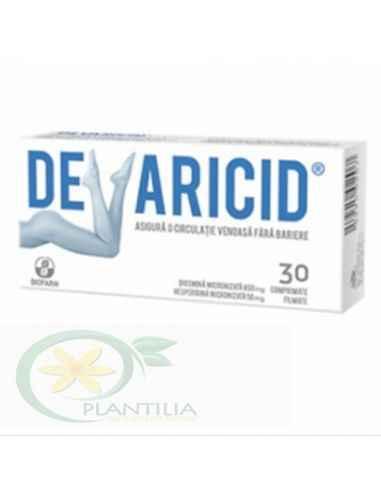 Devaricid 30 comprimate Biofarm Se recomanda in tratarea bolilor venoase si al hemoroizilor pentru ca, spre deosebire de alte pr