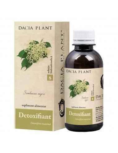 Detoxifiant soluţie hidroalcoolică 200 ml Dacia Plant Detoxifiant este o soluţie hidroalcoolică obţinută din plante, concepută p