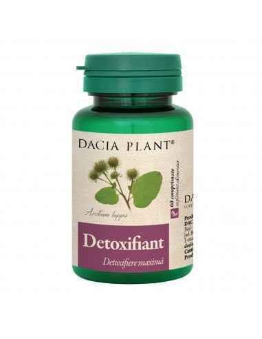 Detoxifiant 60 comprimate Dacia Plant Detoxifiant comprimate este un amestec de plante și uleiuri esențiale, conceput cu scopul