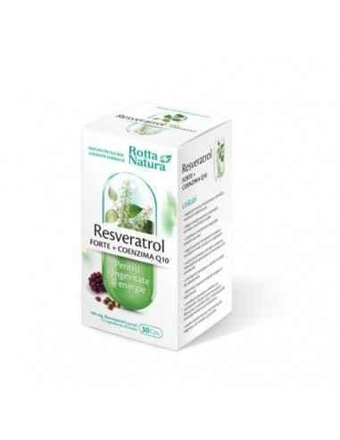 Resveratrol Forte + Coenzima Q10 30 capsule Rotta Natura Acest supliment reuneste compusi care s-au dovedit, prin studii stiinti
