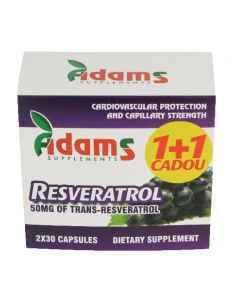 Resveratrol 50 mg 30 capsule 1+1 GRATIS Adams Vision