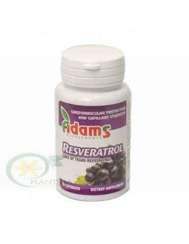 Resveratrol 50 mg 30 capsule Adams Vision, Resveratrol 50 mg 30 capsule Adams Vision Resveratrolul este un ingredient care se ga