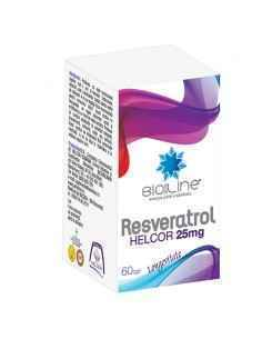 Resveratrol 25 mg 60 comprimate Helcor