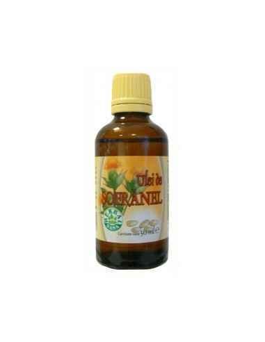 Ulei sofranel presat la rece 50 ml Uleiul de şofrănel este o sursa bogata de acid linoleic (omega-6), conţine acid oleic (omega