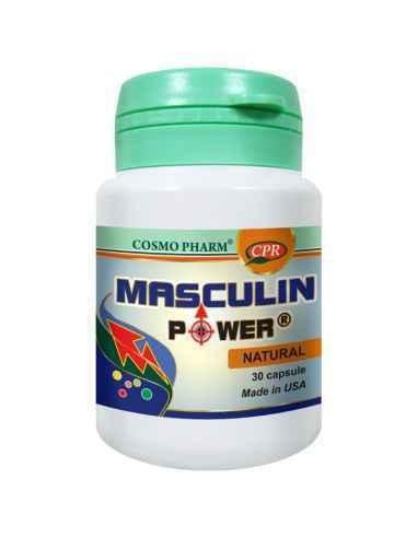 Masculin Power 30 capsule Cosmo Pharm, Masculin Power 30 capsule Cosmo Pharm Stimuleaza functia sexuala masculina. Creste potent