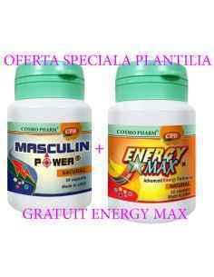 Masculin Power 30 capsule +Energy Max 10 capsule Gratuit Cosmo Pharm