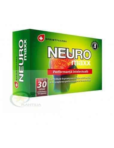 Neuro maxx 30 capsule SprintPharma O combinaţie 100% naturală, unică şi eficientă a peste 20 de substanţe active cu rol importan