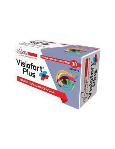 Visiofort Plus 30 capsule FarmaClass, Visiofort Plus 30 capsule FarmaClass Visifort Plus este un produs natural ce asigura funct