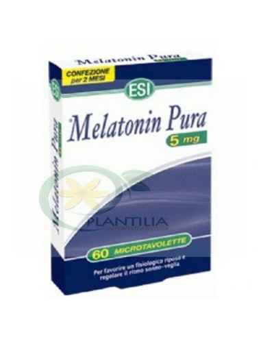 Melatonina Pura 5mg 60 comprimate Esitalia, Melatonina Pura 5mg 60 comprimate Esitalia Melatonina este un hormon produs de gland