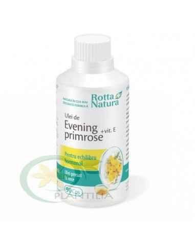 Evening Primrose + Vitamina E 90 capsule Rotta Natura, Evening Primrose + Vitamina E 90 capsule Rotta Natura Uleiul de Evening P
