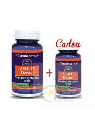 Zeolit Detox+  60 + 30 capsule GRATIS Herbagetica, Zeolit Detox+ 60+ 30 capsule GRATIS Herbagetica Protejează celulele împotriv