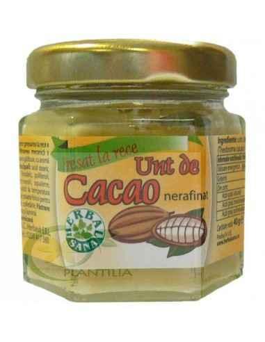 Unt de Cacao Crud Nerafinat 40g Herbavit