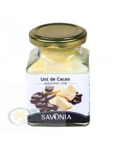 Unt de Cacao Nerafinat, Pur 200 ml Savonia, Unt de Cacao Nerafinat, Pur 200 ml Savonia Untul de cacao Savonia 100% natural și ne