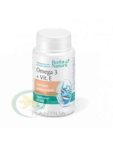 Omega 3 1000 mg + Vitamina E 30 capsule Rotta Natura, Omega 3 + Vitamina E 30 capsule Rotta Natura Uleiul de peste reprezinta ce
