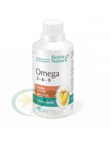 Omega 3-6-9 90 capsule Rotta Natura, Omega 3-6-9 90 capsule Rotta Natura Acizii grasi nesaturati, Omega 3,6 si 9 sunt prezenti i
