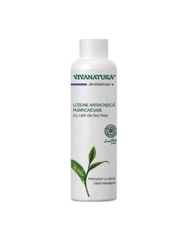 Lotiune antiacneica purificatoare cu ulei de Tea-Tree 150ml Viva Natura