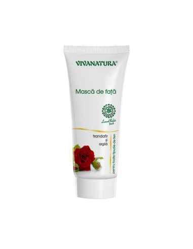Masca de fata cu Argila si trandafir 75 ml Viva Natura