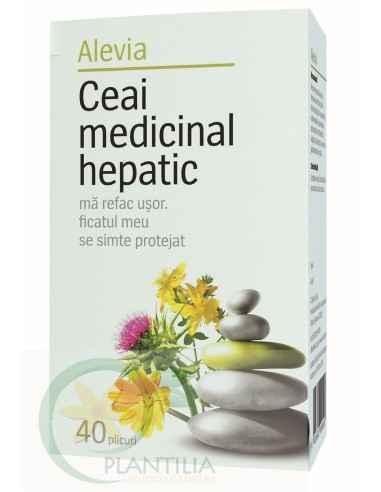 Ceai Medicinal Hepatic 40 doze Alevia, Ceai Medicinal Hepatic 40 dz Alevia Acest ceai are acţiune regeneratoare la nivelul ficat