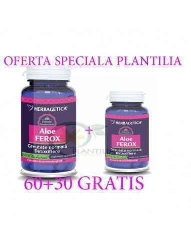 Aloe Ferox 60+30 capsule GRATIS  Herbagetica, Aloe Ferox 60+30 capsule GRATIS Herbagetica Aloe Ferox este o plantă originară di