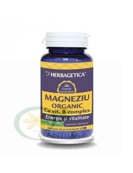 Magneziu Organic cu B Complex 60 capsule Herbagetica