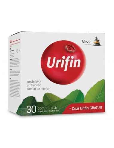 Pachet Urifin 30 capsule + Ceai Urifin 20 doze GRATUIT Alevia