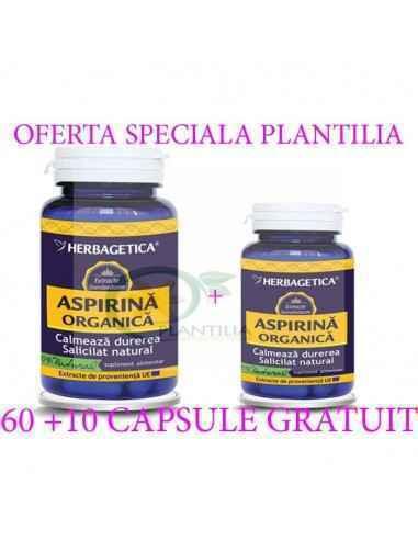 Aspirina Organica 60 capsule Herbagetica