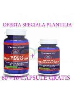 Hepato Regenerator 60+10 capsule GRATIS Herbagetica