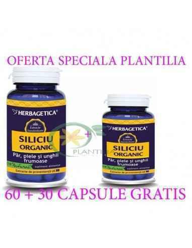 Siliciu Organic 60 + 10 capsule GRATIS Herbagetica, Siliciu Organic 60 + 10 capsule GRATIS Herbagetica Menține echilibrul funcți