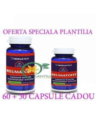 Reumatofit 60 + 60 capsule Herbagetica, Reumatofit 60 + 60 capsule Herbagetica Diminuează senzaţiile de durere, împiedică proces