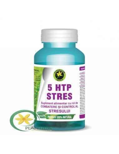 5 HTP Stres 60 capsule Hypericum, 5 HTP Stres 60 capsule Hypericum Supliment alimentar cu rol de combatere și control al stresul